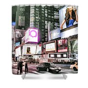 Times Square At Night Shower Curtain