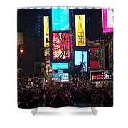 Times Square Crowds Shower Curtain