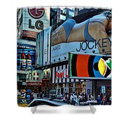 Times Square Energy Shower Curtain