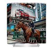 Times Square Horse Power Shower Curtain