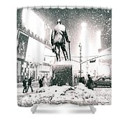 Times Square In The Snow - New York City Shower Curtain