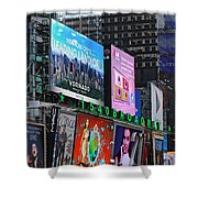 Times Square - Looking South Shower Curtain