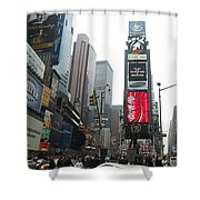 Times Square Shower Curtain by Georgia Fowler