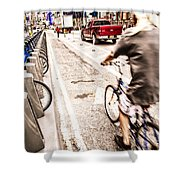 Times Square Ride Shower Curtain