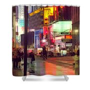 Times Square With Runaway Horse Shower Curtain
