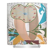 Times Up Shower Curtain