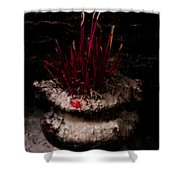 Timeworn Incense Pot Shower Curtain