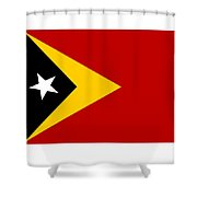 Timor-leste Flag Shower Curtain