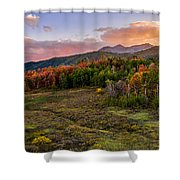 Timp Fall Glow Shower Curtain by Chad Dutson