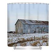 Tin Barn Color  Shower Curtain