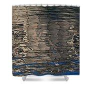 Tin Fishing Shack Reflection Shower Curtain