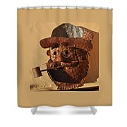 Tin Man With Pipe Shower Curtain