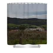 Tin Sheds Shower Curtain