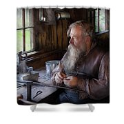 Tin Smith - Making Toys For Children Shower Curtain