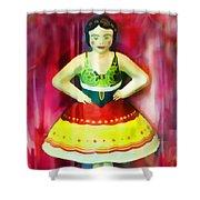 Tin Toy Ballerina Shower Curtain