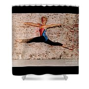 Shelly Ballet Jump Shower Curtain