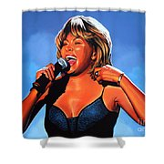 Tina Turner Queen Of Rock Shower Curtain by Paul Meijering