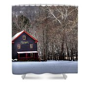 Tinglers Mill Paint Bank Shower Curtain