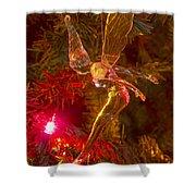 Tinker Bell Christmas Tree Landing Shower Curtain