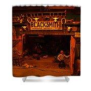 Tinkertown Blacksmith Shop Shower Curtain by Jeff Swan