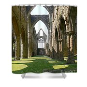 Tintern Abbey Nave Shower Curtain