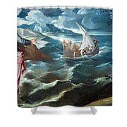 Tintoretto's Christ At The Sea Of Galilee Shower Curtain