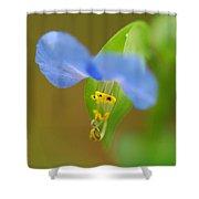 Tiny Blue Flower Shower Curtain