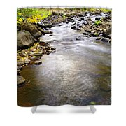 Tiny Rapids At The Bend  Shower Curtain