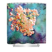 Tiny Spring Tree Blooms - Digital Color Change And Paint Shower Curtain