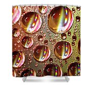Tiny Water Beads And Spectrum Colors Shower Curtain