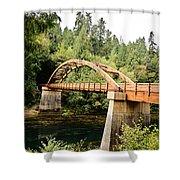 Tioga Bridge Over North Umpqua River Shower Curtain