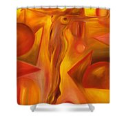 Tip-toeing Nude Shower Curtain