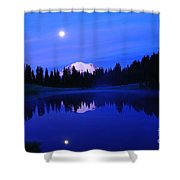 Tipsoe Lake In The Morn  Shower Curtain by Jeff Swan