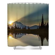 Tipsoo Rainier Sunstar Shower Curtain
