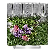 Tipsy Flowers Shower Curtain