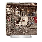 Tire And Battery Service Shower Curtain