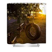 Tire Swing Shower Curtain