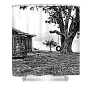 Tire Swing Shower Curtain