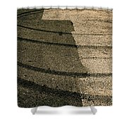 Tire Traces Beige Shower Curtain