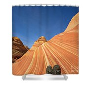 Tired Hiker Paria Wilderness Arizona Shower Curtain