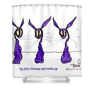 Tis 90's Smokey Eye Make Up Shower Curtain