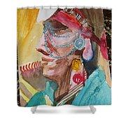 Water Healing Ceremonial Chief Yaz  Shower Curtain