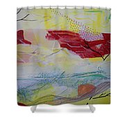 Tissue Paper Abstract 114 Shower Curtain