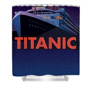 Titanic 100 Years Commemorative Shower Curtain