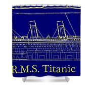 Titanic By Design Shower Curtain
