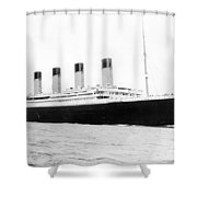 Titanic Departing Southhampton Shower Curtain