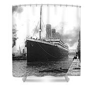 Titanic In Southampton Harbor Shower Curtain