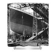 Titanic Under Construction Shower Curtain