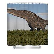 Titanosaurus Standing In Swamp Shower Curtain