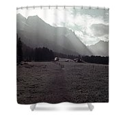 Titlis Fields And Farm Shower Curtain